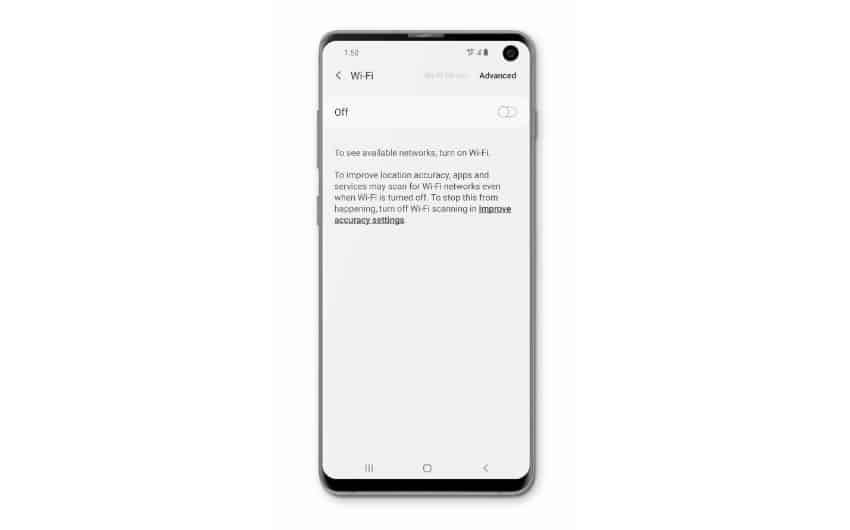 Samsung Galaxy S10 disconnects from WiFi network by itself -