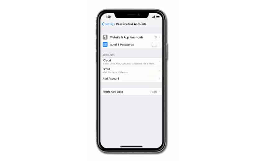 add email account on iphone xr