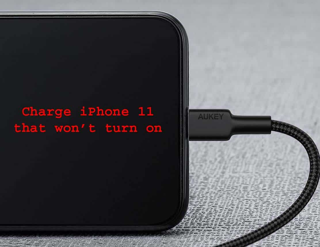 charging an iPhone 11 that won't power on