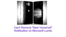 "Can't Remove ""New Voicemail"" Notification on Microsoft Lumia"