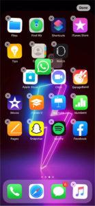 organize folders on iphone 11 home screen