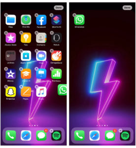 create app folders on iphone 11 home screen