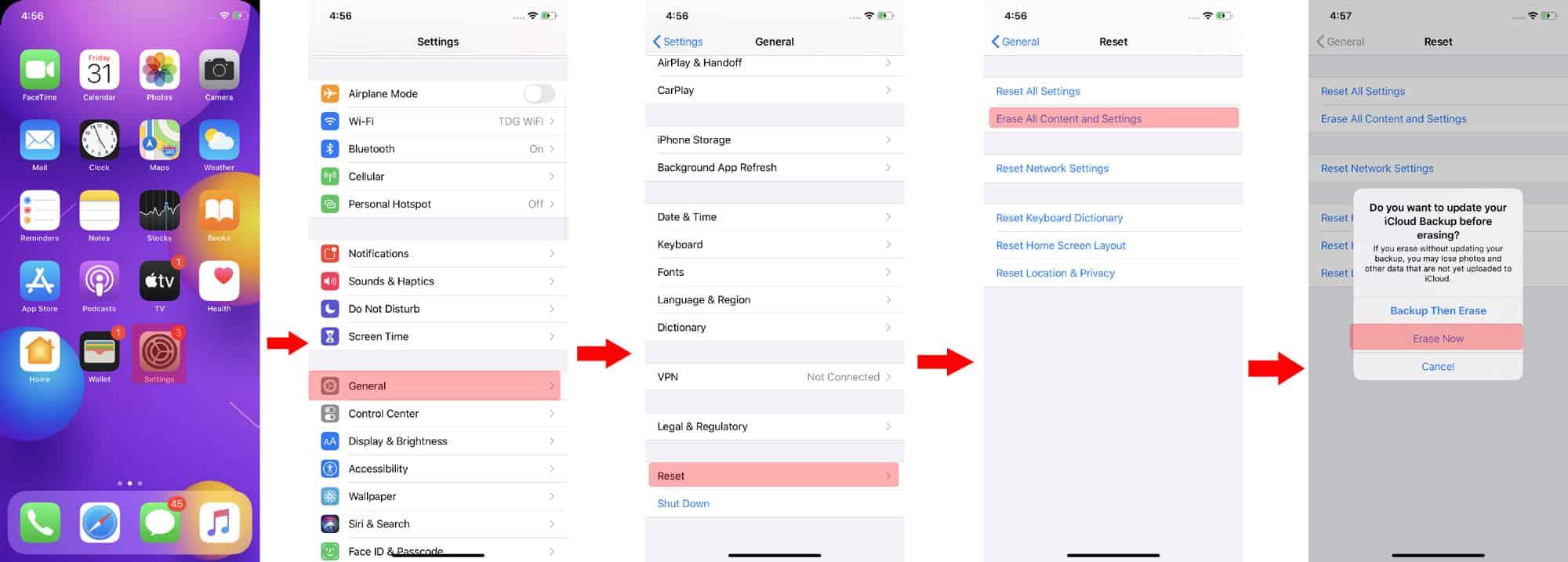 factory reset iphone ios 13 - fix personal hotspot not working