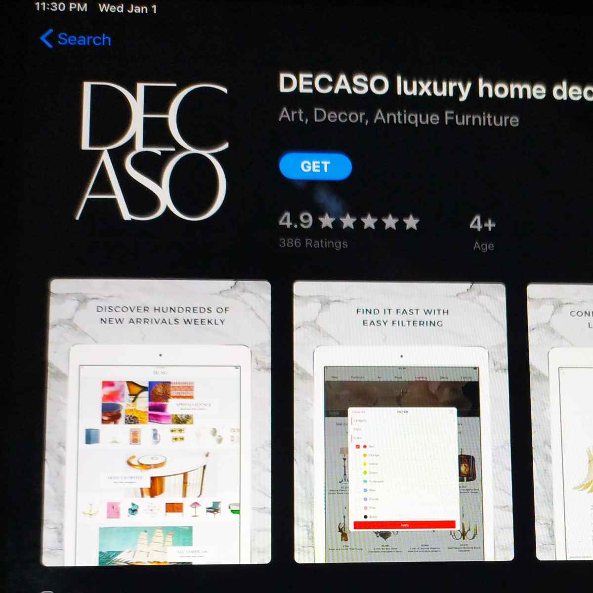 Decaso Luxury Home Decor App For Ios Thecellguide