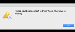 apple iphone 11 cannot sync with iTunes error syncing
