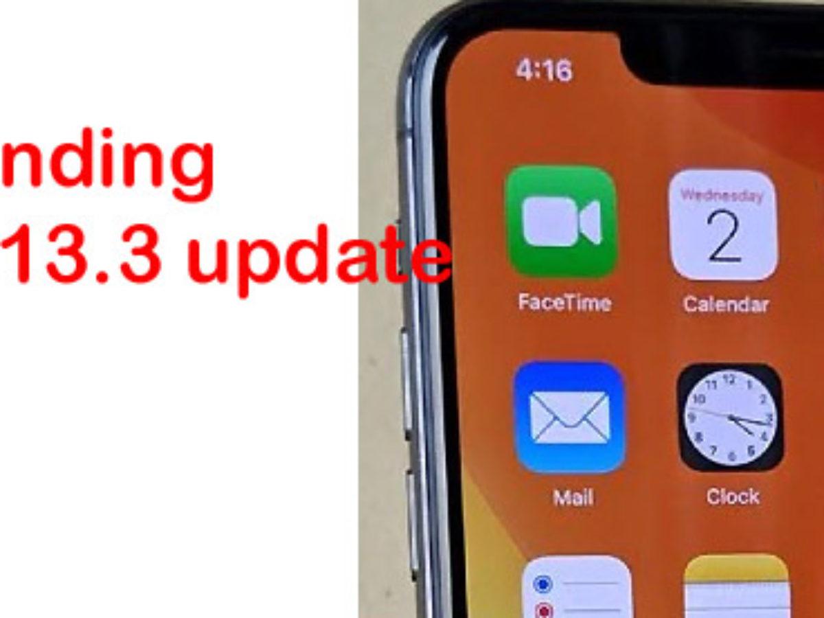 fix iphone not responding after ios 13.3 update