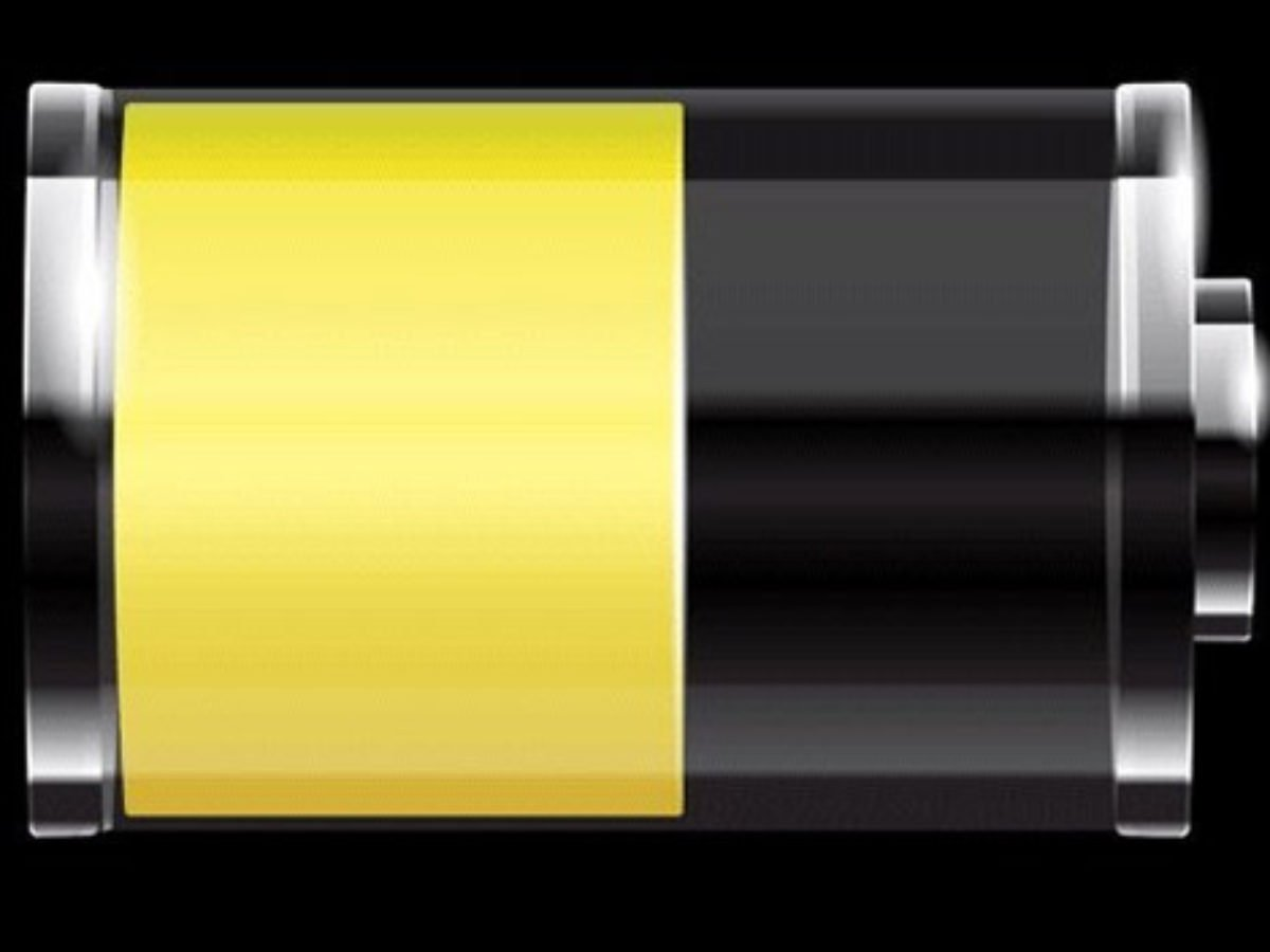 iphone low power mode yellow battery icon