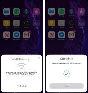 share iphone wi-fi password thumb