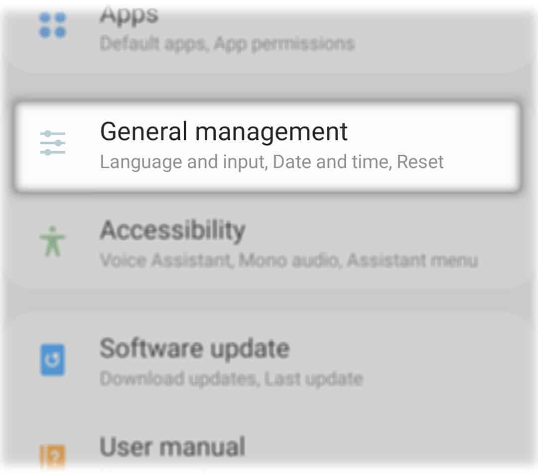 reset galaxy a50 network settings general management