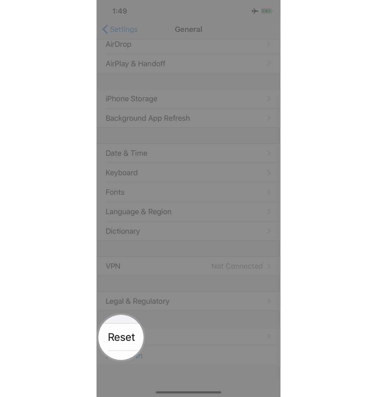 factory reset an iphone reset