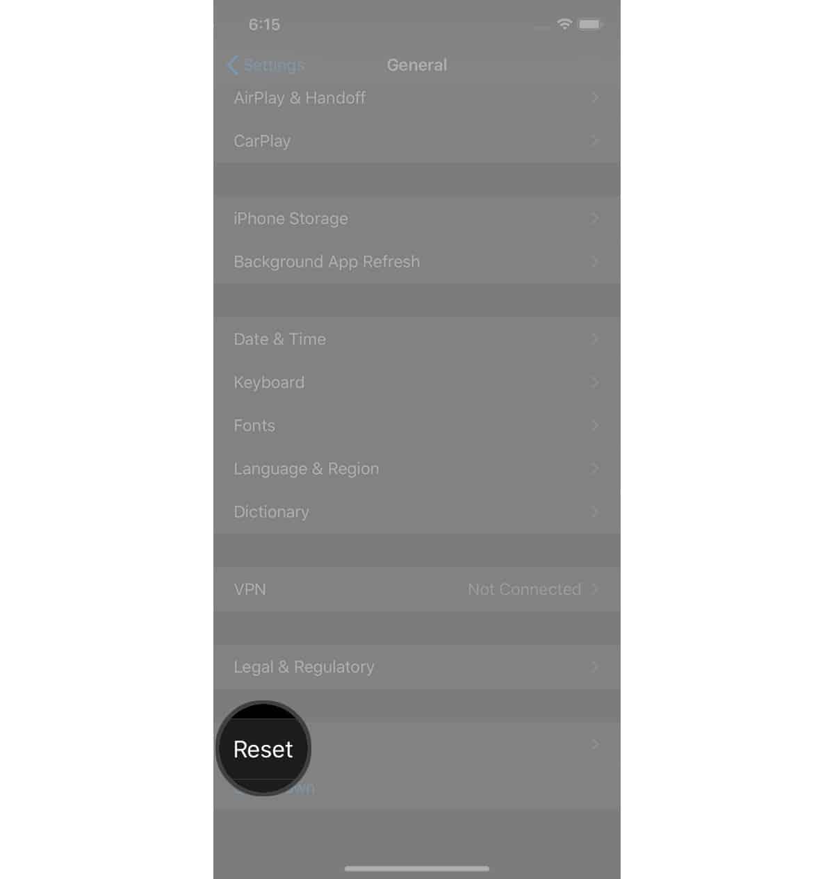 reset iphone settings reset