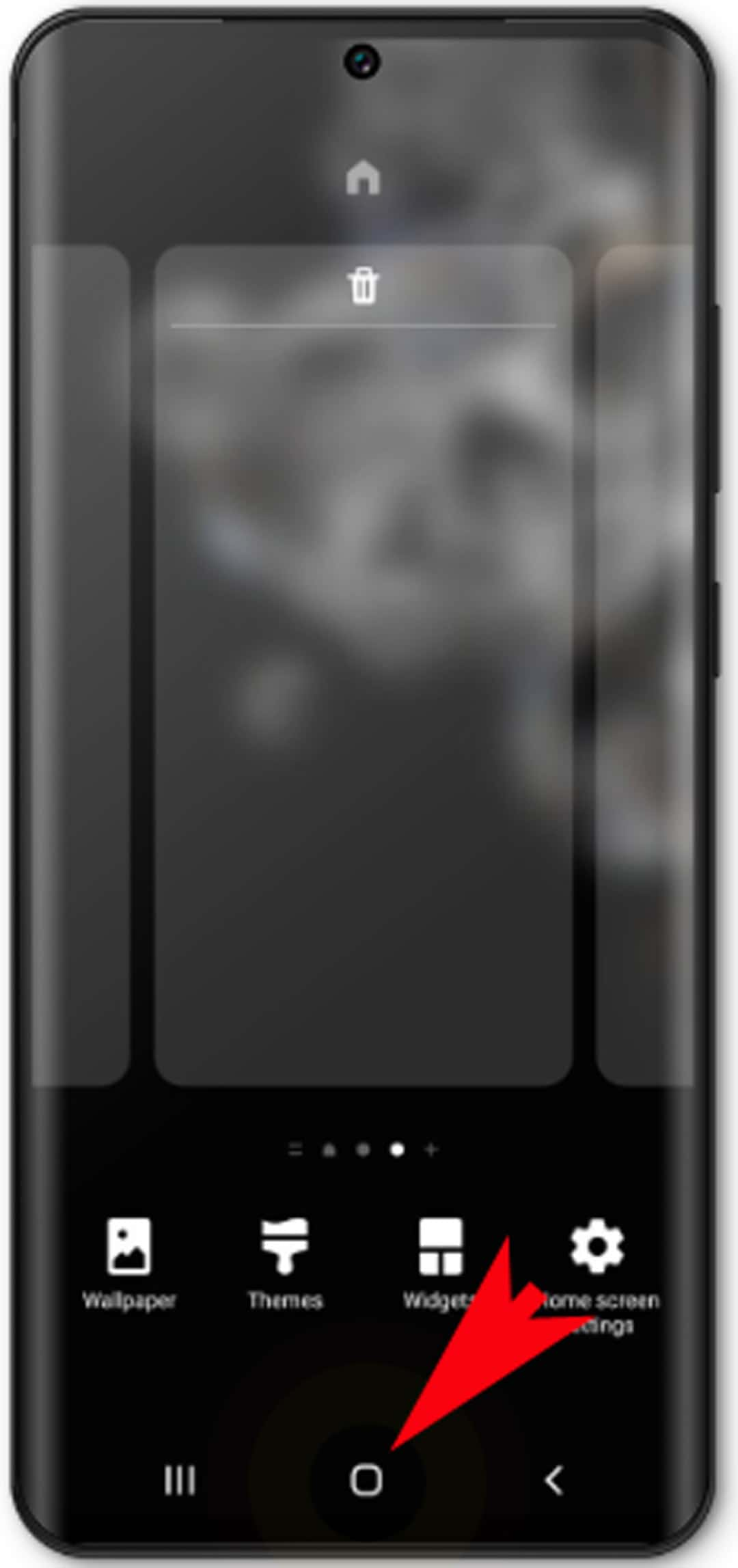 add and remove galaxy s20 home screens - Home icon