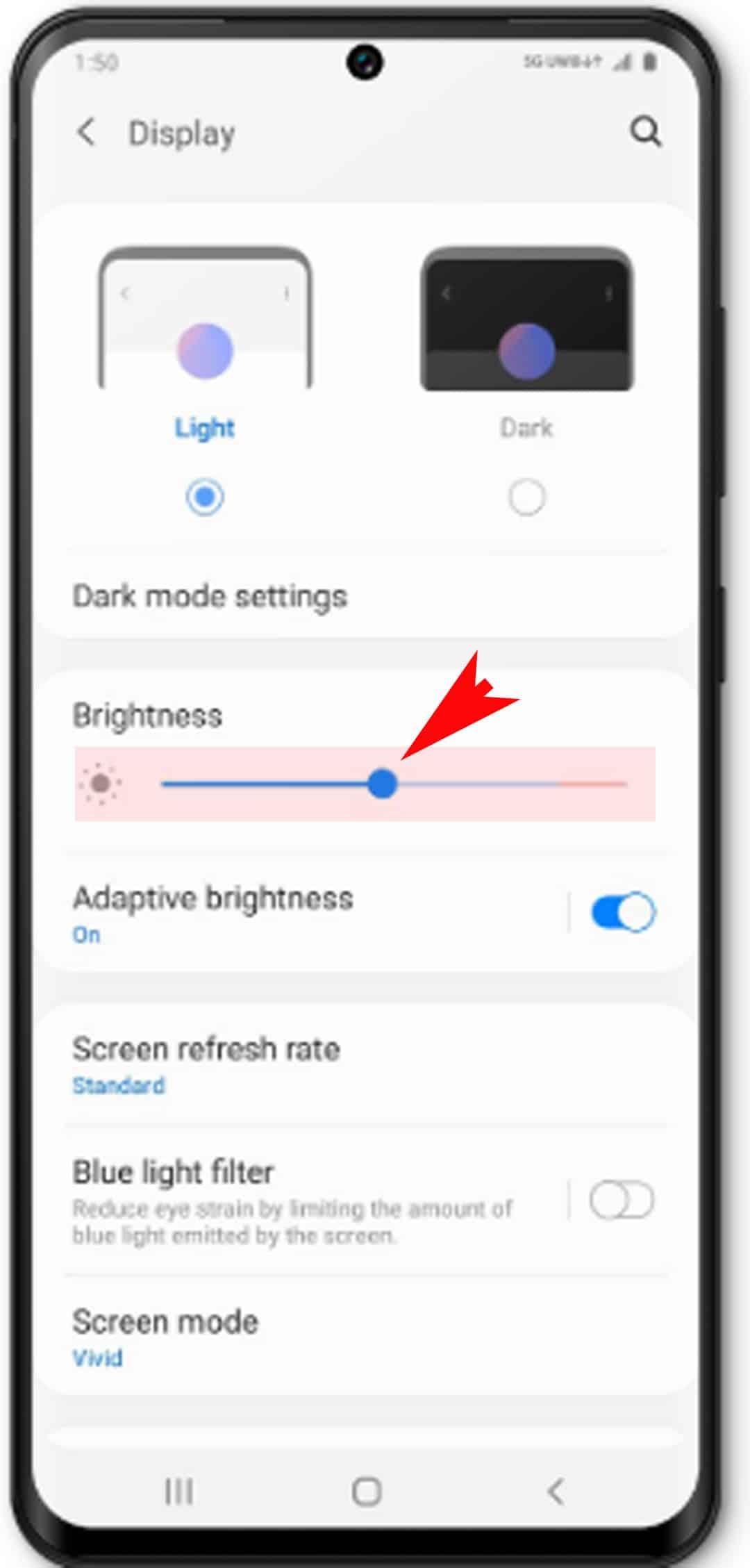adjust galaxy s20 screen timeout and brightness - adjust screen brightness