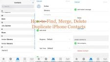 find duplicate iphone contacts
