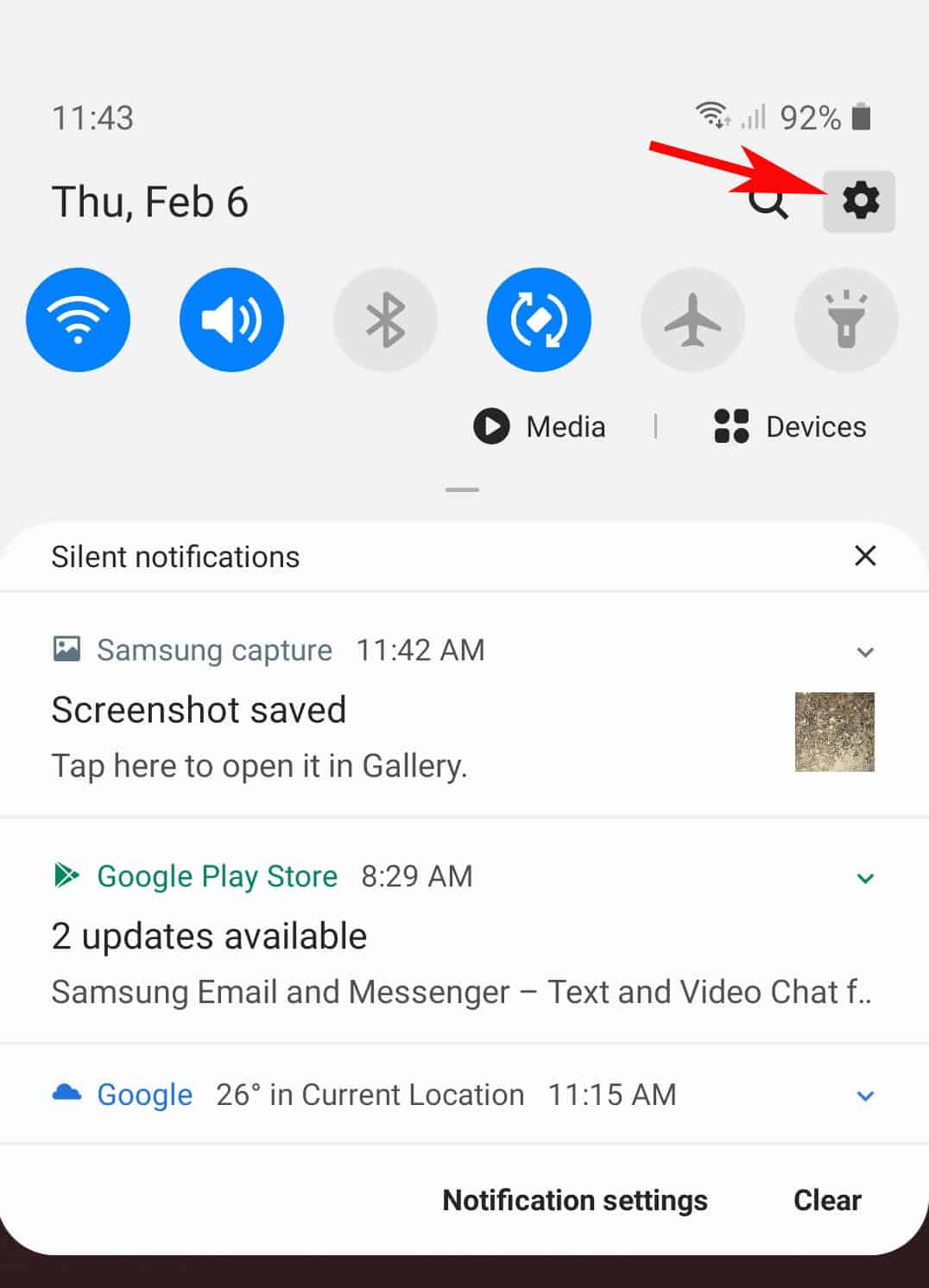 galaxy s20 reset accessibility settings - navigation panel settings icon