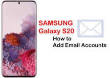 how to add email accounts on galaxy s20