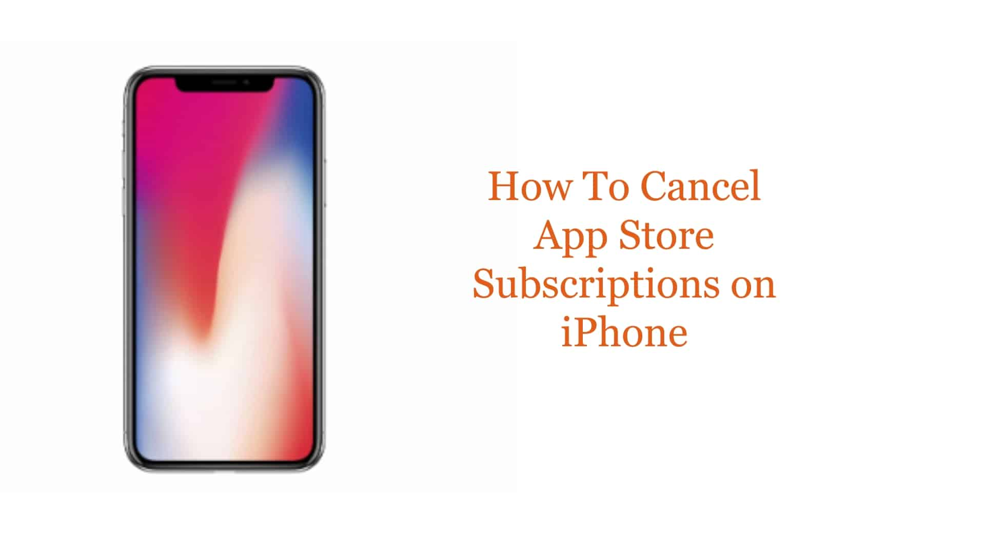 how to cancel app store subscriptions