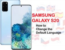 how to change default language on Galaxy S20