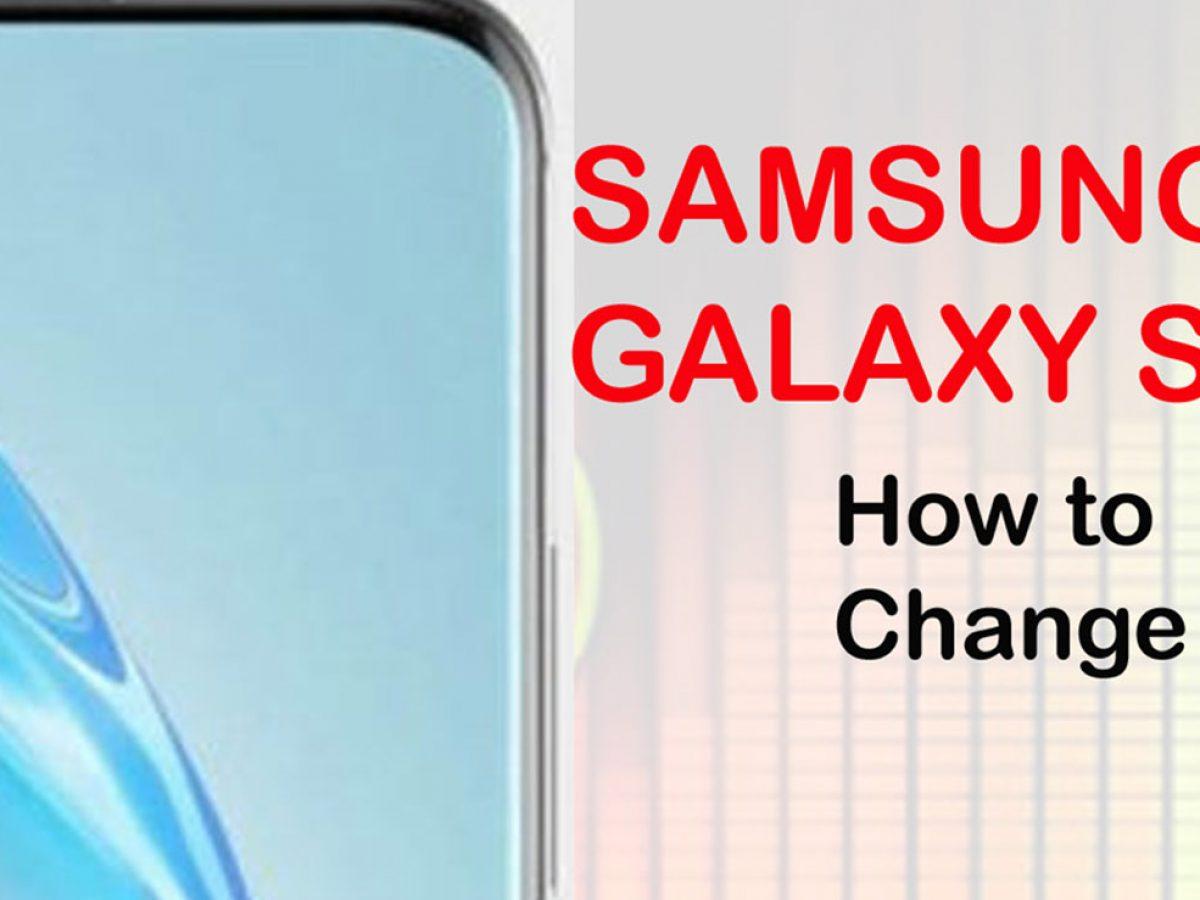 how to change galaxy s20 ringtone