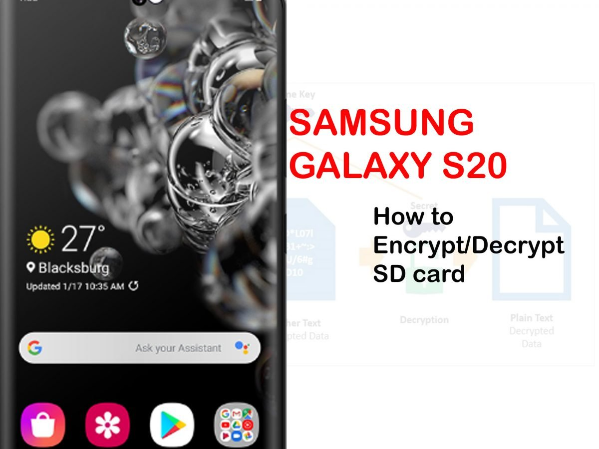 how to encrypt and decrypt sd card on galaxy s20