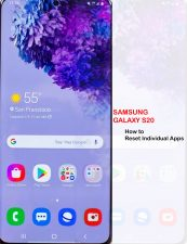 how to reset apps on galaxy s20