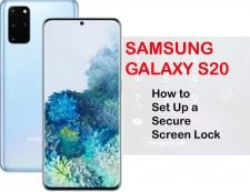 how to set up a secure screen on galaxy s20
