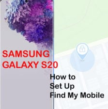how to set up find my mobile on galaxy s20