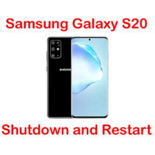 how to shutdown and restart samsung galaxy s20