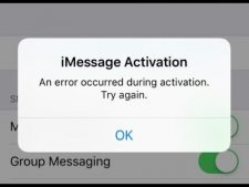 """""""An error occurred during activation"""" for iMessage and Facetime"""