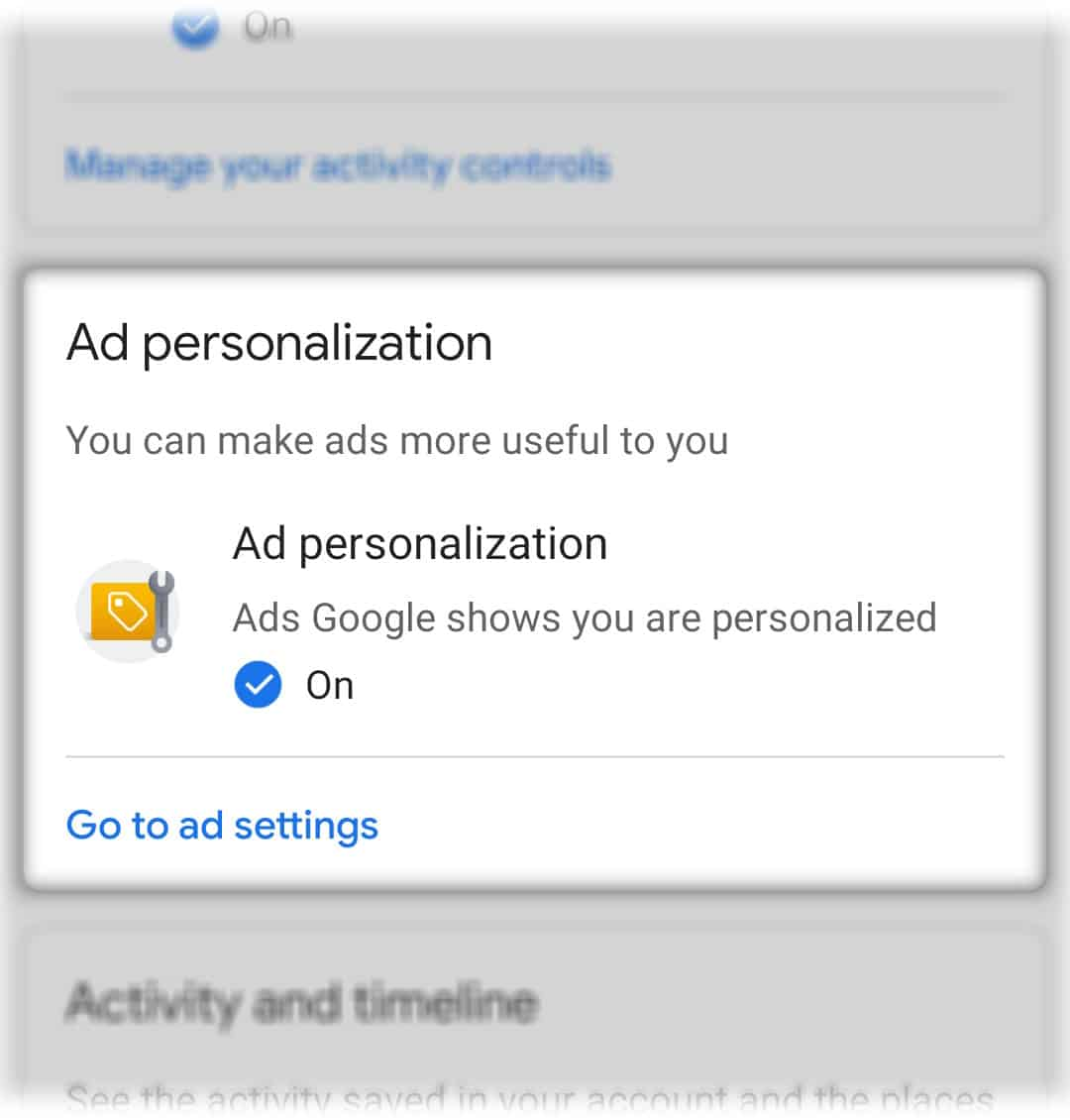 stop pop up ads ad personalization