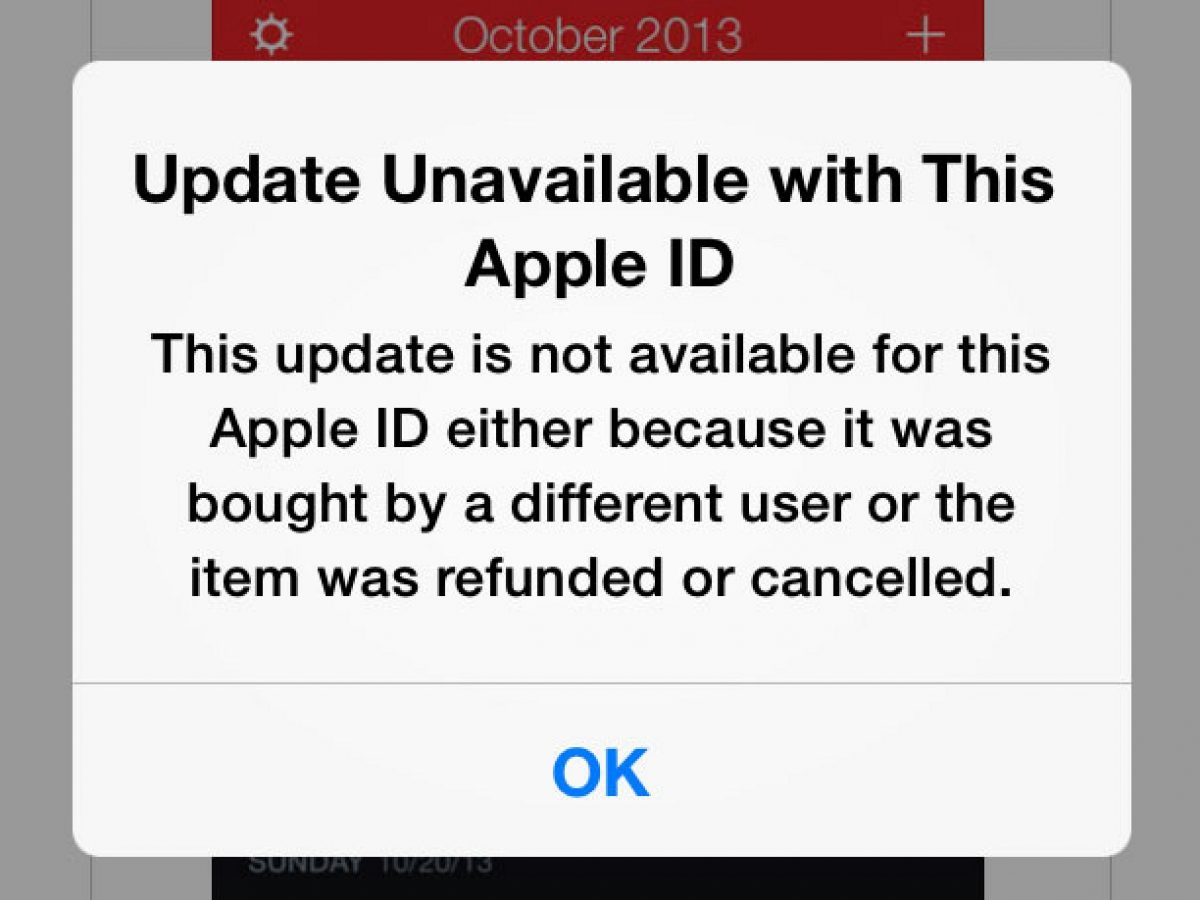 """""""Update Unavailable With This Apple ID"""" Error On Apple iPhone XS Max"""