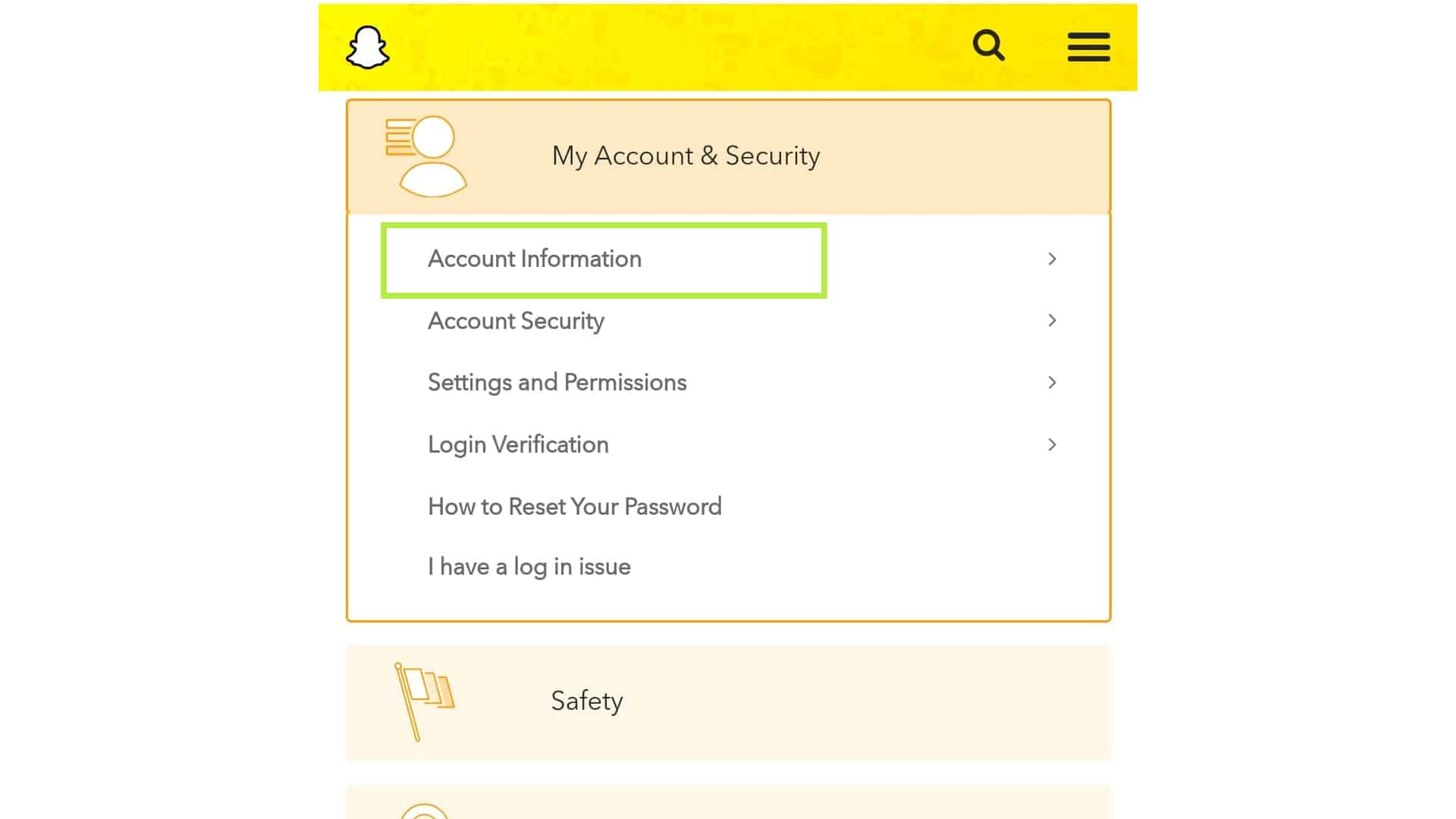 delete snapchat account info