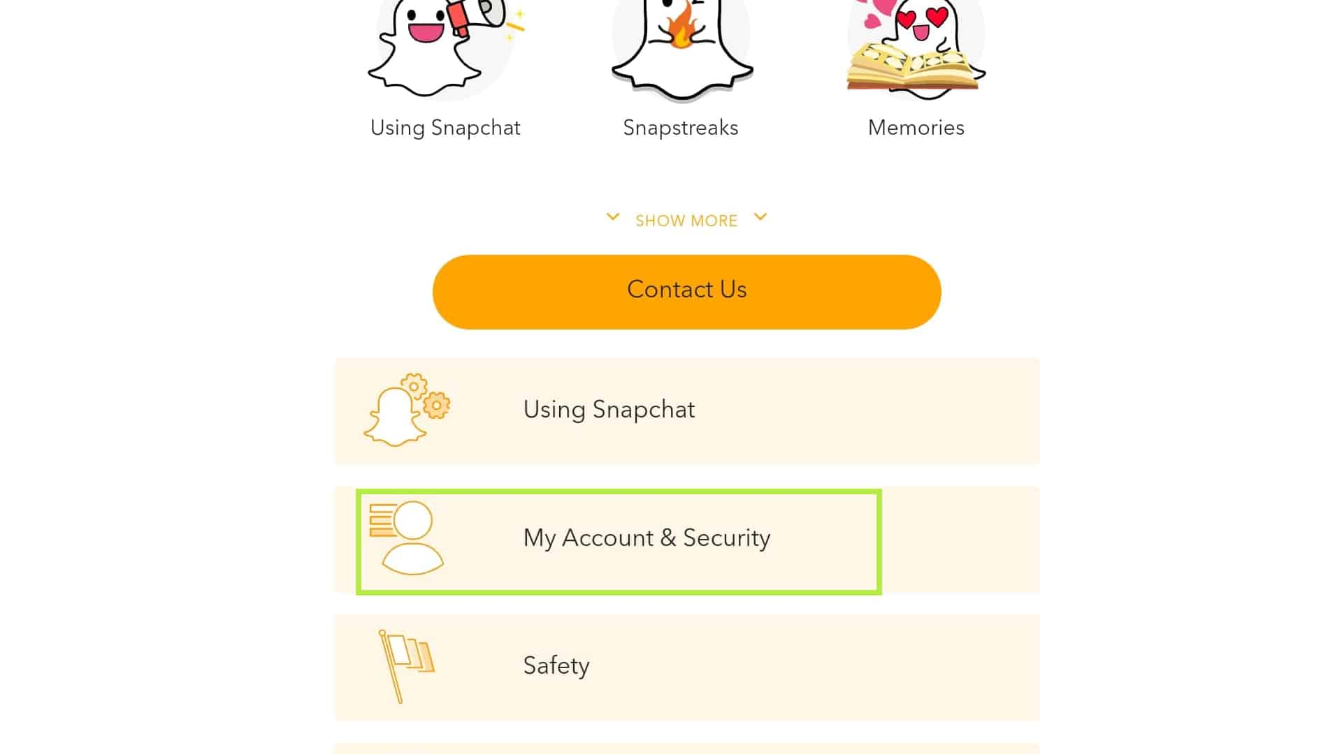 delete snapchat account and security