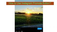 how to use instagram promote button