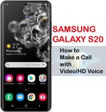 how to make a call with video and hd voice