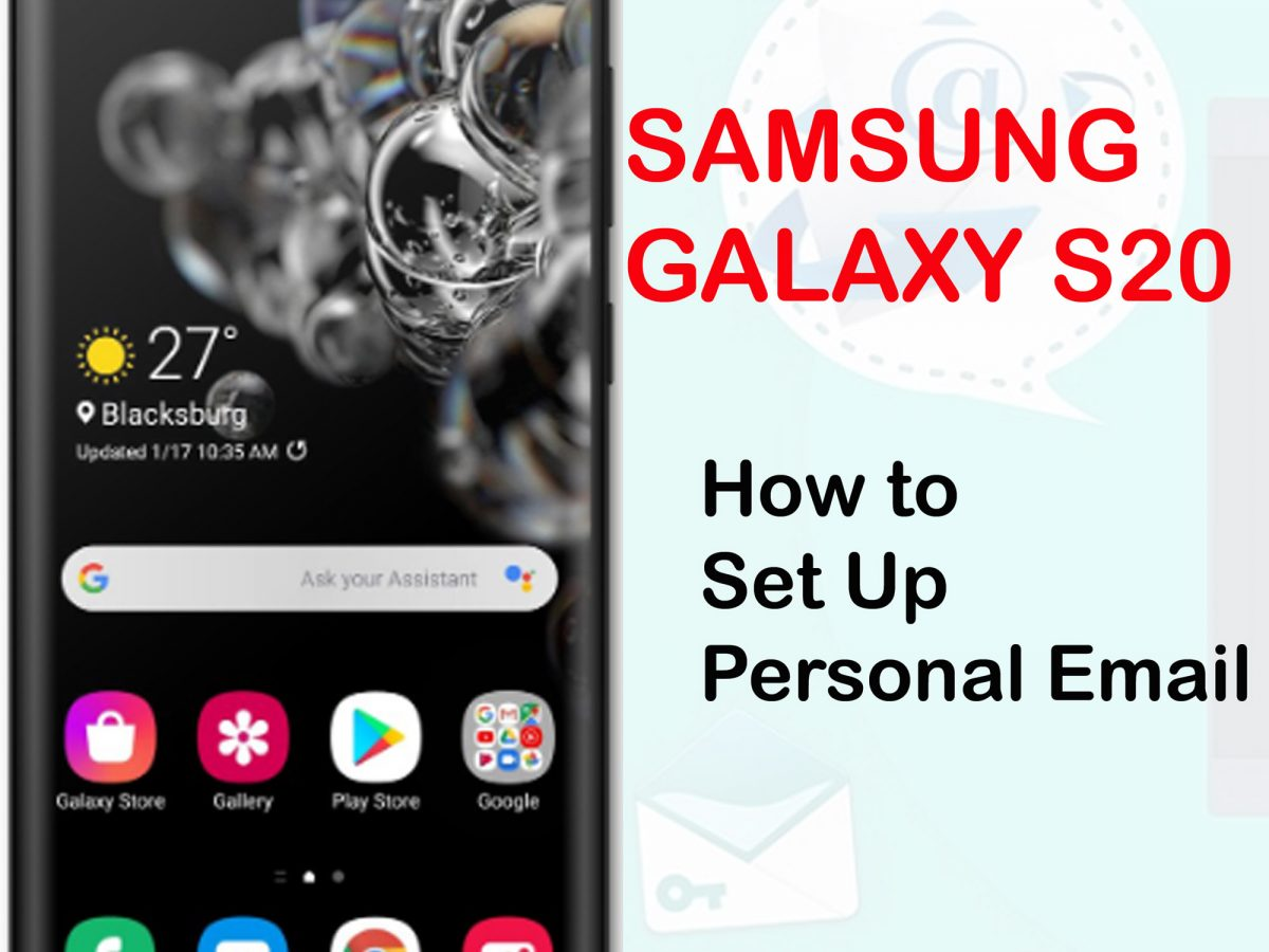 how to set up personal email galaxy s20
