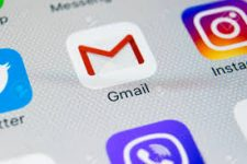 iPhone 8 with Gmail app