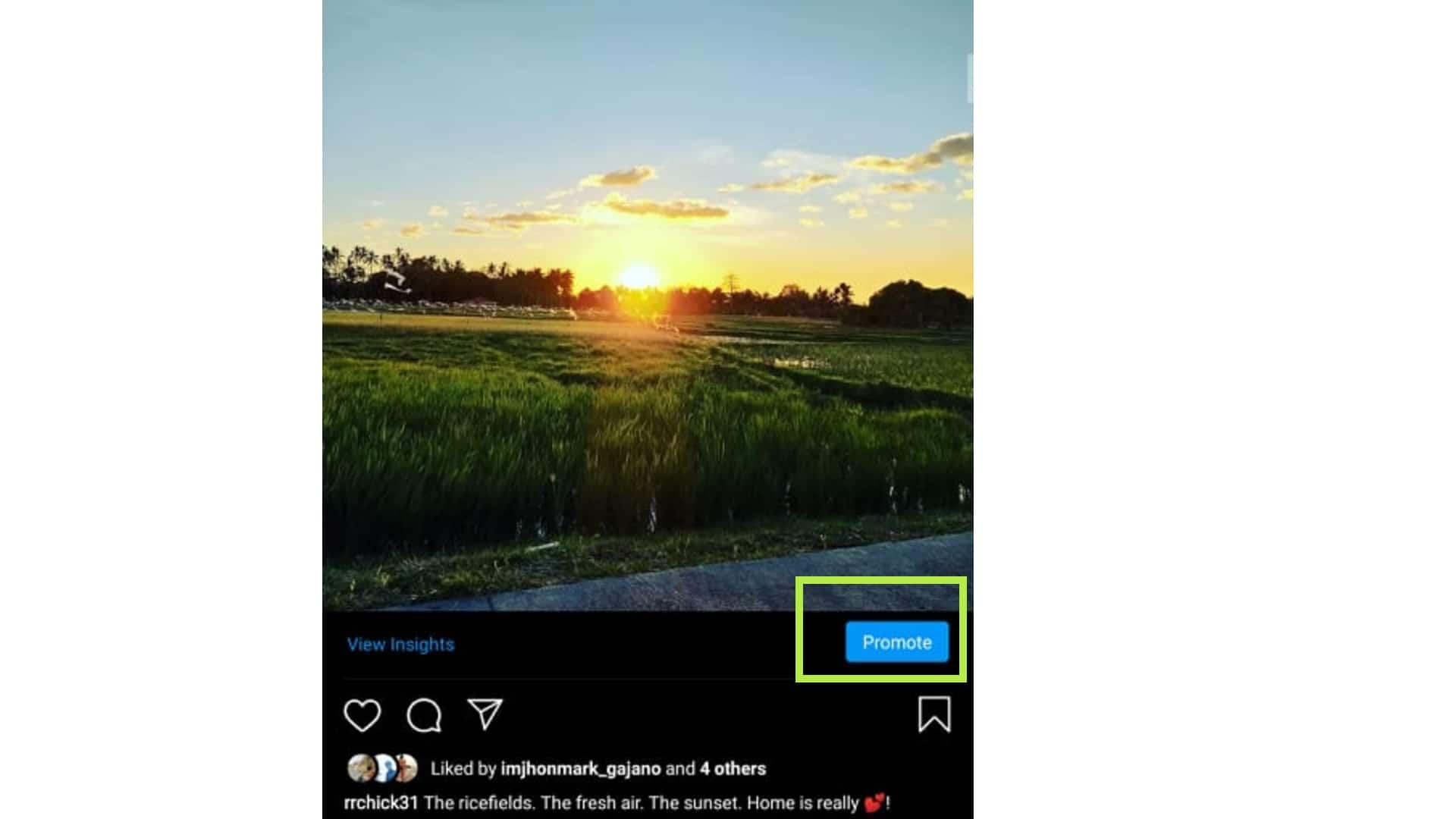 instagram promote post