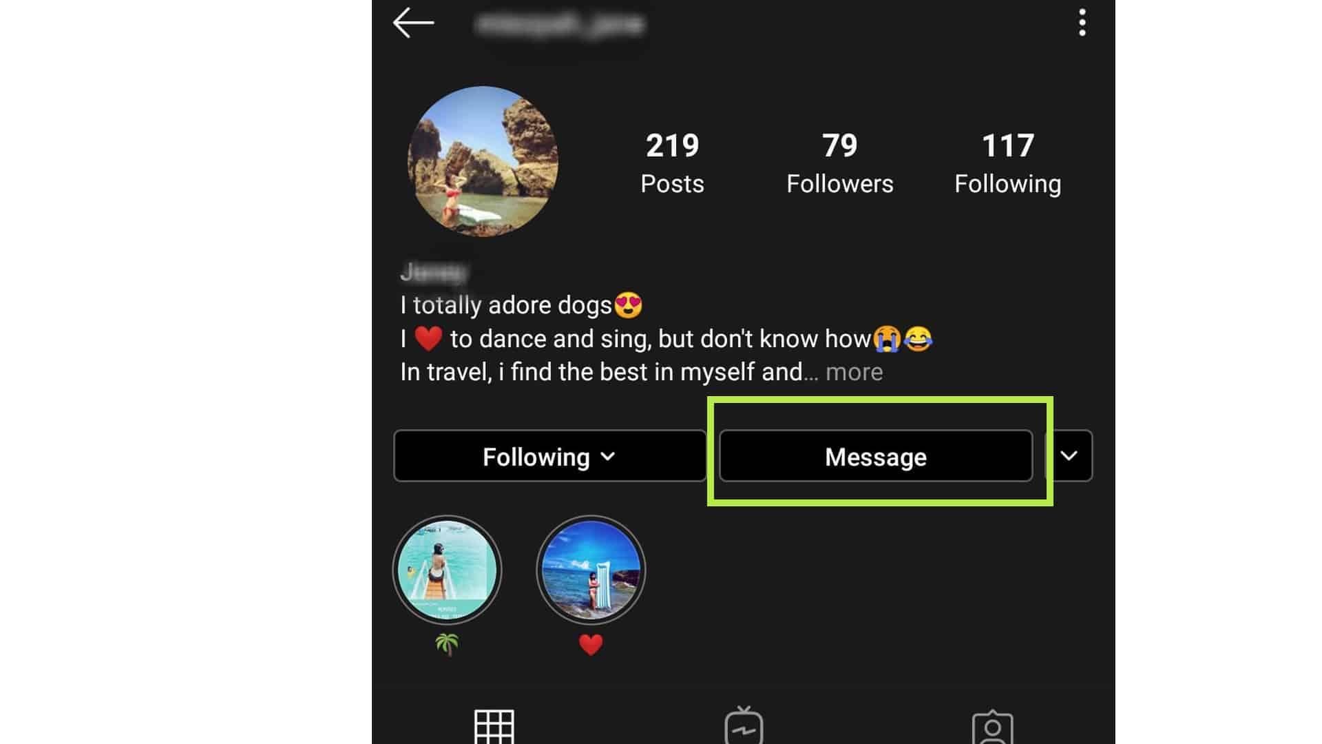 instagram video chat message