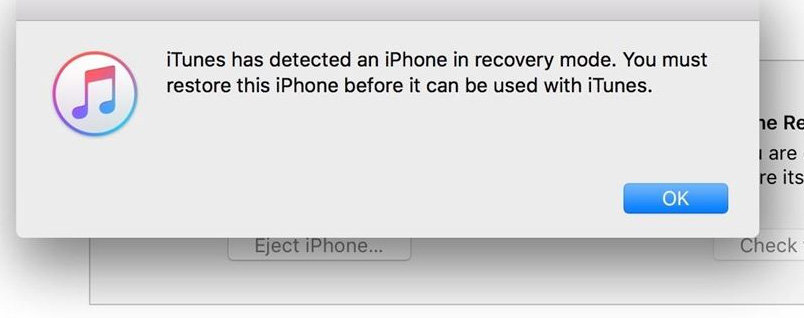 restore iphone in recovery mode to fix slow charging problem after ios 13.3 update