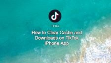 clear cache and downloads on tiktok iphone