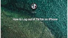 log out of tiktok on iPhone