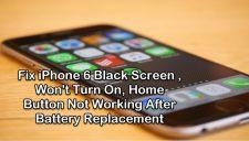 iPhone 6 black screen