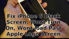 Black Screen, Wont Turn On, Wont load Past Apple Logo Screen