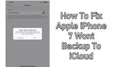 Wont Backup To iCloud