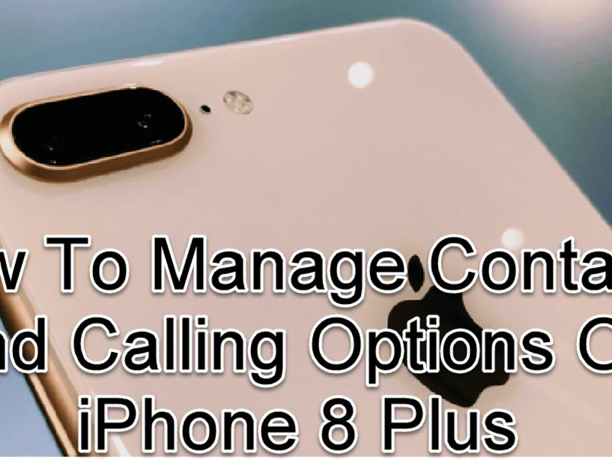 Manage Contacts And Calling Options