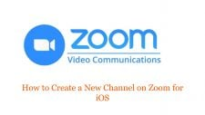 How to Create a New Channel on Zoom for iOS