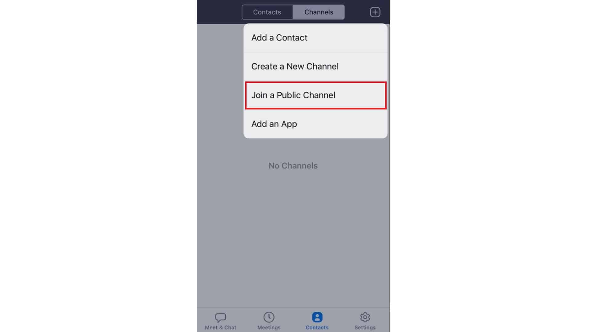 How-to-Join a-Public-Channel-on-Zoom-for-iOS-2020-guide