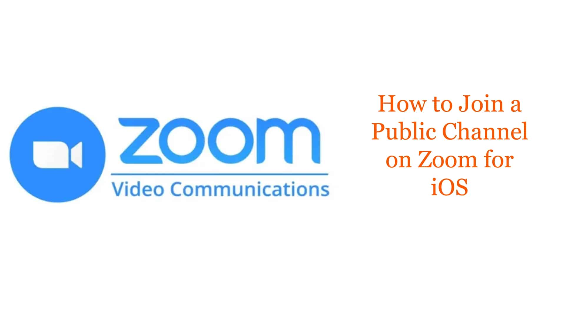 How to Join a Public Channel on Zoom for iOS