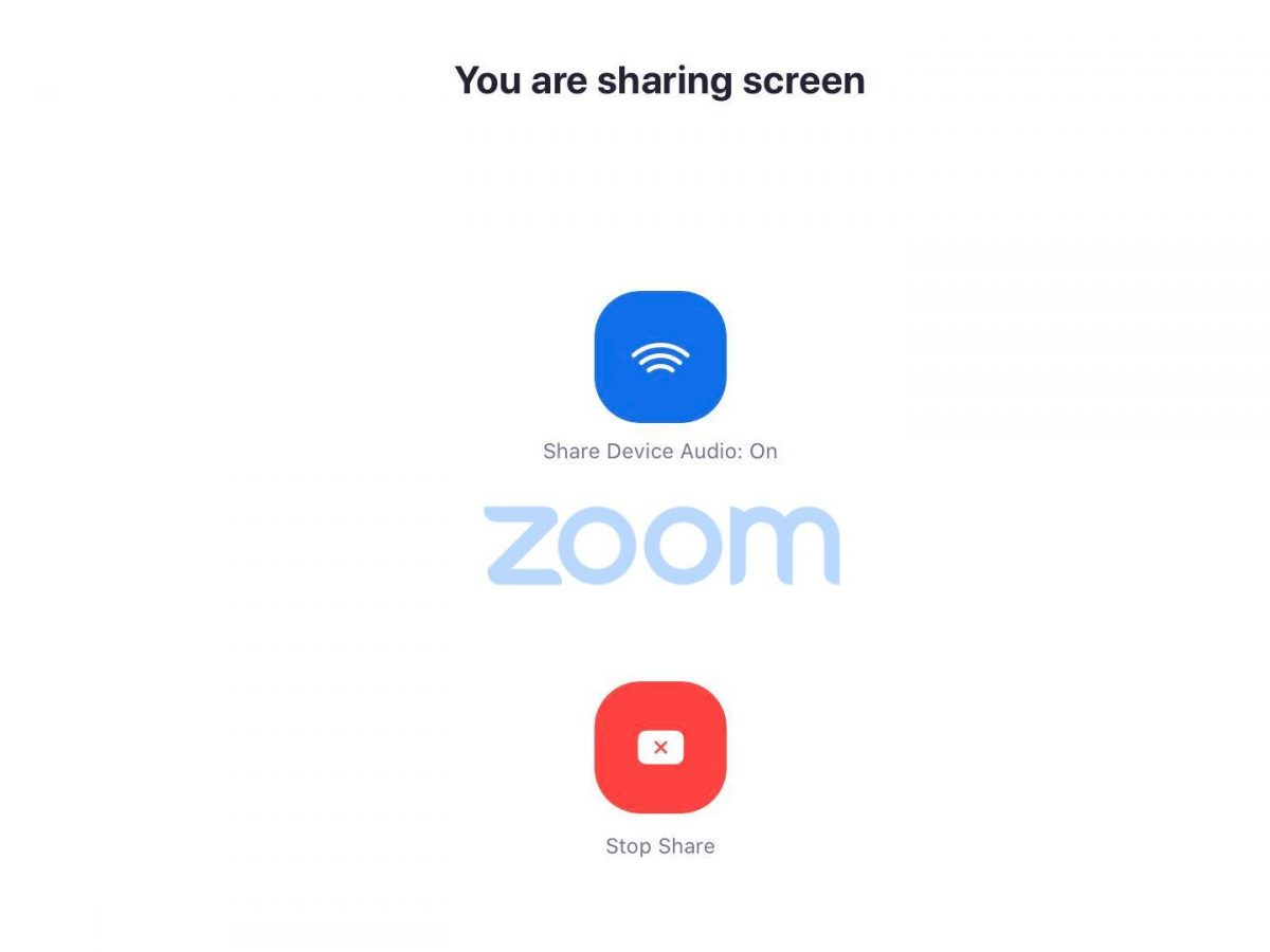 share screen when meeting on zoom